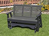 Ecommersify Inc 5FT-Dark Gray-Poly Lumber ROLL Back Porch Glider Heavy Duty Everlasting PolyTuf HDPE - Made in USA -...