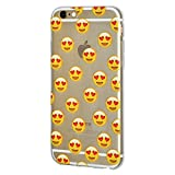 Soft Gel Crystal Clear Transparent Emoji TPU Skin Case for iPhone 6 Plus/6s Plus - Love
