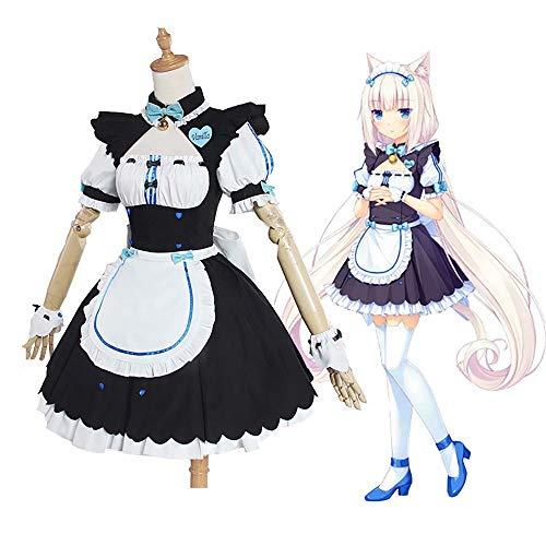 Frauen Dienstmädchen Outfits Uniform 8-teiliges Set Japanische Anime Prinzessin Cosplay Nekopara Chocola Vanille Cosplay Kostüm Katze Mädchen Dienstmädchen Kleid Uniform Phantasie Halloween Cosplay
