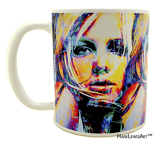 Britney Spears coffee mugs artwork by Mark Lewis Art Britney Spears sbs1bsc signed collectible