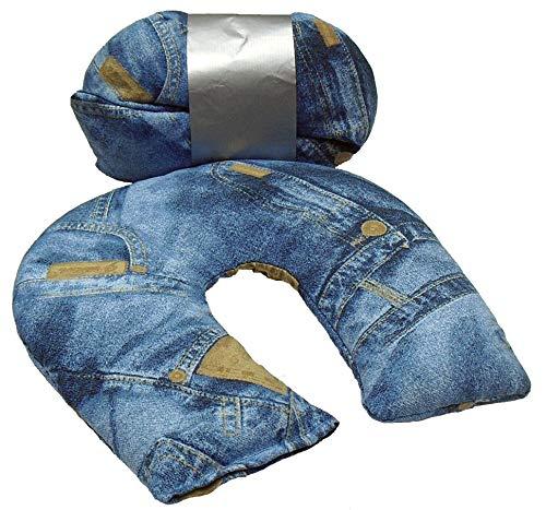 Thermovip'Cervical Jeans' Almohadilla Cojín Termo Calmante de Semillas y Plantas Aromáticas