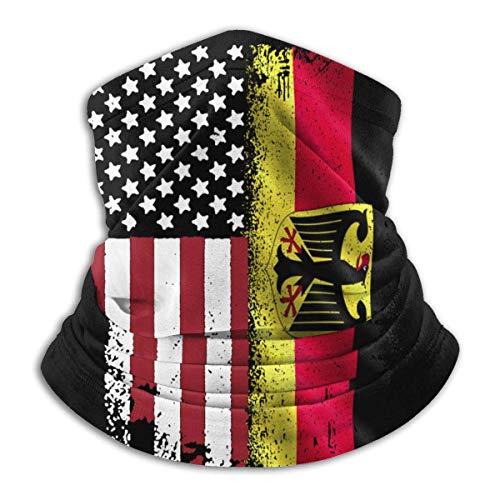 Lfff Pasamontañas Alemania Bandera Americana Unisex a Prueba de Viento Deportes Boca Cubierta Bufanda al Aire Libre Calentador de Cuello Bandana pasamontañas Sombreros