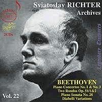スヴィヤトスラフ・リヒテル Vol.22 (Sviatoslav Richter Archives Vol.22 / Beethoven : Piano Concertos No.1 & No.3 , etc.) (2CD) [輸入盤]
