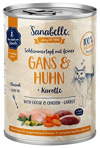 Sanabelle Nassfutter Schlemmertopf mit Gans & Huhn | 6 x 380 g | 2.28 kg