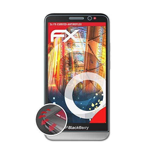 atFolix Schutzfolie kompatibel mit BlackBerry Z30 Folie, entspiegelnde & Flexible FX Bildschirmschutzfolie (3X)