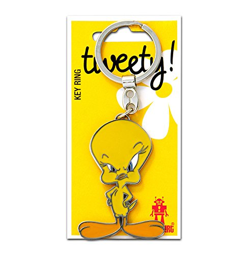Logoshirt Cartoon - Looney Tunes - Vogel - Tweety Schlüsselanhänger - Key-Ring - gelb - Lizenziertes Originaldesign
