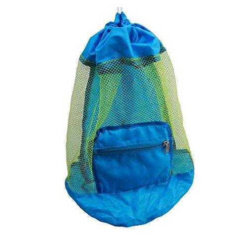LCsndice Bolsa de playa para niños, plegable, malla de nailon, para niños, mochila de playa, juguetes no incluidos, 24 cm x 48 cm, juego de 1