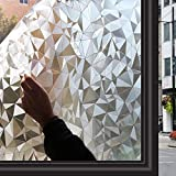 Zindoo Vinilos para Cristales 3D Vinilo de Ventana Vinilo Translucido Vinilos Decorativos Cristales Laminas para Ventanas 44.5 * 200cm