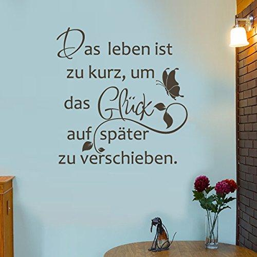 inspirierend Wand Zitat Das Leben ist zu kurz,um das glück auf später zu verschieben Für Wohnzimmer (custom, Large)