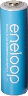Eneloop CO-W35G-CPNQ Newest Version 4th Generation AA NiMH Pre-Charged Rechargeable Battery Blue Pack of 8