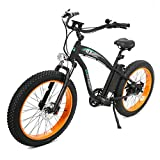 ECOTRIC Powerful Fat Tire Electric Bicycle 26' 48V 13AH Li-ion Battery 1000W Motor AluminiumFrame Suspension Fork Beach Snow Ebike Electric Mountain Bicycle