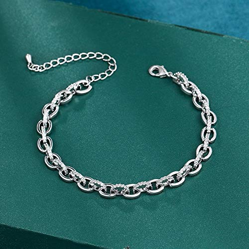 N/A Bracelet jewelry Arrival Exquisite Cubic Zirconia Crystal Link Tennis Bracelets for Women Brides or Party Jewelry Valentine's Day present