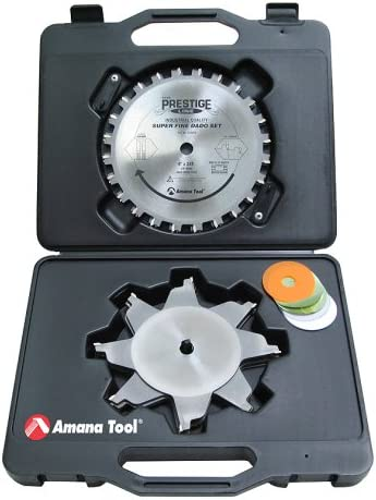 """discount Amana lowest Tool - 658060 Carbide Tipped Prestige Dado high quality 8"""" Dia x 24T H-ATB, 5/8 Bore, Complet outlet sale"""