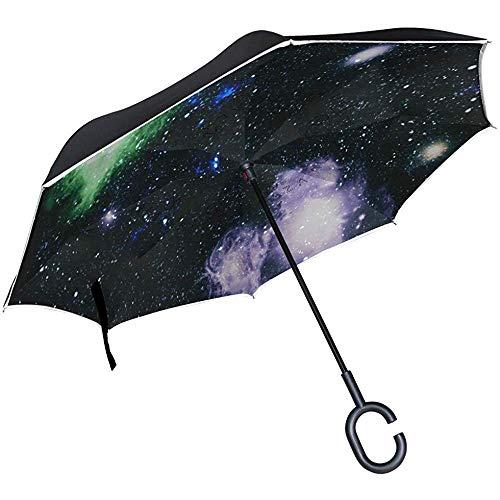 Ombrello Inverso Simpatici Unicorni Da Colorare Ombrello Rovesciato Reversibile Per Golf Car Travel Pioggia All'Aperto