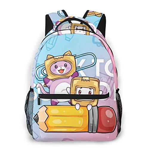 maichengxuan Lankybox - Bolsas escolares para niñas y niños, universidad, escuela, niños, bolsa de ordenador