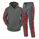 Dasongff - Chándal para hombre de manga larga con capucha y pantalón de deporte con capucha