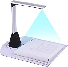 Aibecy Portable High Speed USB Book Image Document Camera Scanner 5 Mega-pixel High-Definition Max. A4 Scanning Size with OCR Function LED Light for Classroom Office Library Bank