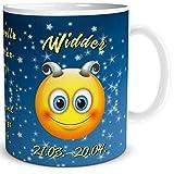 TRIOSK Tasse Smiley mit Spruch lustig Sternzeichen Widder Geburtstagstasse Geschenk für Frauen Männer Arbeit Büro Kollegen Geburtstag