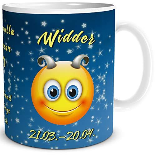 TRIOSK mok Smiley met spreuk grappig sterrenbeeld raam verjaardagsmok geschenk voor vrouwen mannen collega verjaardag