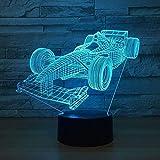Creative 3DVeilleuseLampeRacing carTouch LED Table Lampe de Bureau 7 Changement de Couleur USB Chargeur Alimenté Interrupteur Tactile Bureau Veilleuse pour Enfants Amis Cadeau