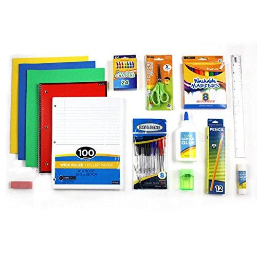 School Supplies Set Convenient Elementary School Supplies Kit for Grades 4th 5th 6th 7th and 8th
