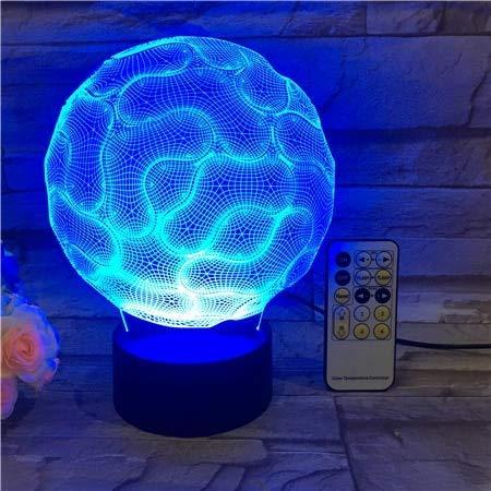Zjcpow USB tracto Cerebro 3D lámpara de Mesa de Regalos niños de Juguete de Control Remoto acrílico Grabado de Gradiente de Color Atmósfera lámpara de Mesa 3D niños de Juguete de regalo-533 xuwuhz