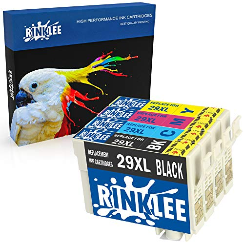RINKLEE 4 Compatibles 29XL 29 XL Alta Capacidad Cartuchos de Tinta Reemplazo para Epson XP-235 XP-245 XP-332 XP-335 XP-342 XP-432 XP-435 XP-442 XP-445 XP-247 XP-255 XP-257 XP-345 XP-352 XP-455