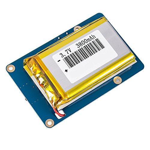 DollaTek Lithium-Akku-Erweiterungskarten-Netzteil mit Schalter für Himbeer-Pi 3 Modell B, 2 Modell B und 1 Modell B + Banana Pi 3800mAh 5V / 1.8A