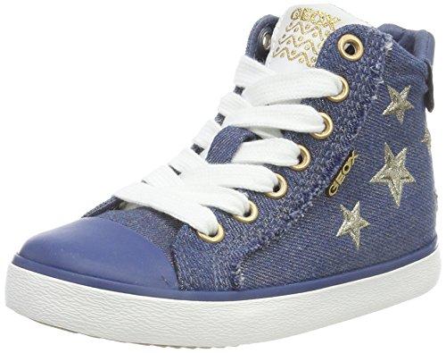 Geox J Kilwi Girl C, Zapatillas Altas Niñas, Azul (Avio), 35 EU