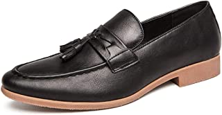 TMYQM Business Oxford Men's Casual Loafers Synthetic Leather Non-slip Tips