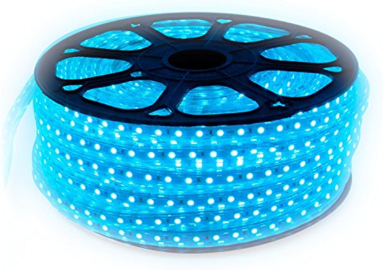 LED Strip 230 Volt mit 60x 5050 SMD pro Meter Blau 25 Meter