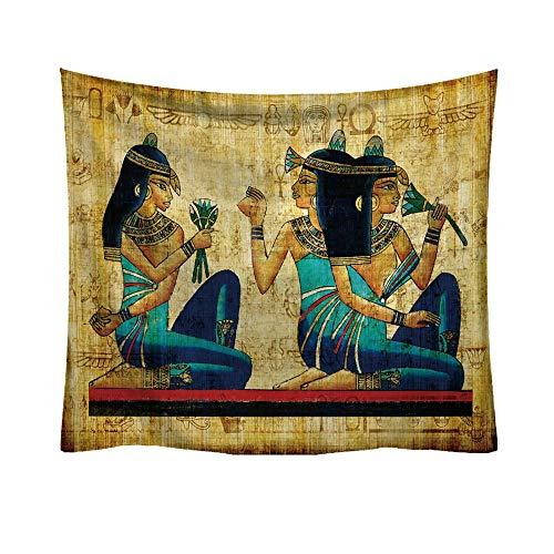 Sannysis Tapisserie Wandbehang Strandtuch Alten Ägypten Ägyptische Boot Hippie Mandala Bohemian Tagesdecke indischen Überwurf Decke Home Raum Wand Decor (D, 95 * 73cm)