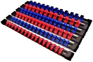 6 GOLIATH INDUSTRIAL ABS MOUNTABLE SOCKET RAIL RACK HOLDER ORGANIZER 1/4 3/8 1/2