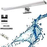 Spiegelleuchte LED 3-in-1 Bad 60CM 12 Watt 960LM 4000K 230 Volt, Wasserdicht IP44, Neutralweiß, Badleuchte, Schminklicht, Schrankleuchte, Aufbauleuchte
