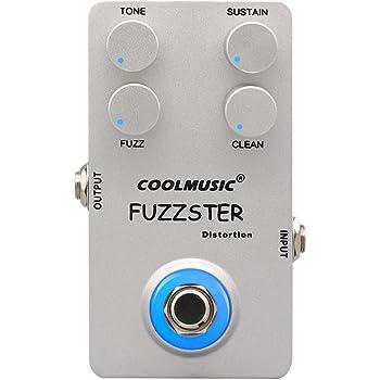 Coolmusic C-FC1 Fuzz Distortion Guitar Effect Pedal Bass Pedal withTrue Bypass