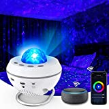 Star Projector, 10 Colors WiFi Galaxy Light Projector for Bedroom Working with Smart App & Alexa, Starry Night Projector with Remote & Bluetooth, Ocean Wave Projector Lights for Bedroom Kids, Adults