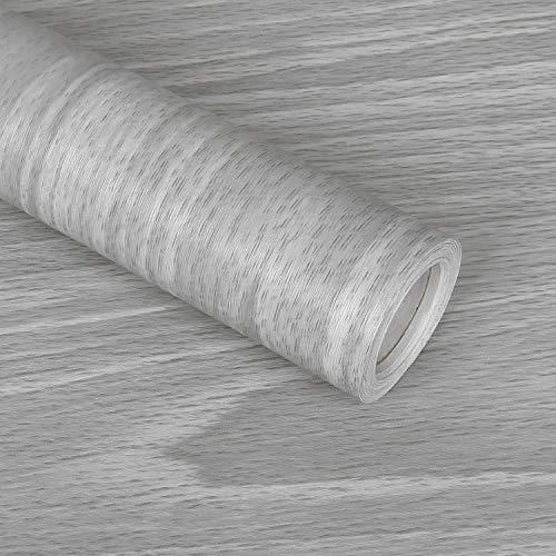 Sunm Boutique Möbelfolie Selbstklebende Folie klebefolie holzoptik beige Möbel Aufkleber Wasserdich Dekofolie für Fensterbank Schrank Schminktisch 45cm x10m