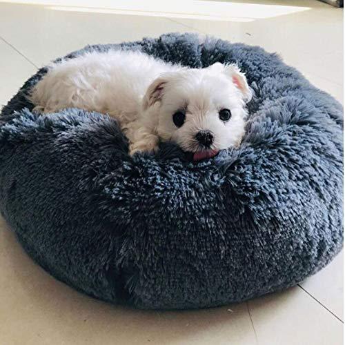 Petfekt - Gemütliches Haustierbett, reduziert Angst und Stress: Das natürliche Design des Betts sorgt für sofortige Entspannung und Komfort. (XXL (100cm), Anthrazit)