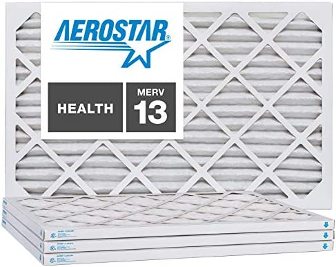 Aerostar 16 3 8x21 1 2x1 MERV 13 Pleated Air Filter 16 3 8x21 1 2x1 Box of 4 Made in The USA product image