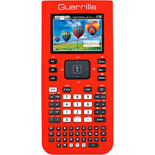 Guerrilla Silicone Case for Texas Instruments TI Nspire CX/CX CAS Graphing Calculator, Red Photo #6
