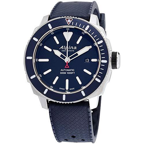 Alpina Herren analog Automatik Uhr mit Gummi Armband AL-525LBN4V6