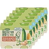 Blédina - Biologique - Légumes Verts Riz Poulet 2,40 kg - Pacquet de 12