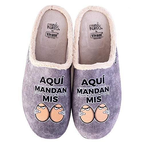 Zapatillas casa, comodas, con Pelo y Originales Expresiones y Frases...