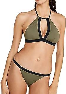 kolila Women's Two Pieces Sexy Push Up Bikini Sets Halter wimsuits Swimwear Bandeau with Swim Bottom Bathing Suits 2 Piece