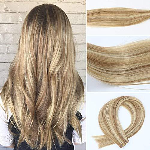Lot de 20 extensions capillaires à deux tons, cheveux colorés 16\