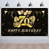 HOWAF 70. Geburtstag Party Dekorationen Schwarz und Gold,