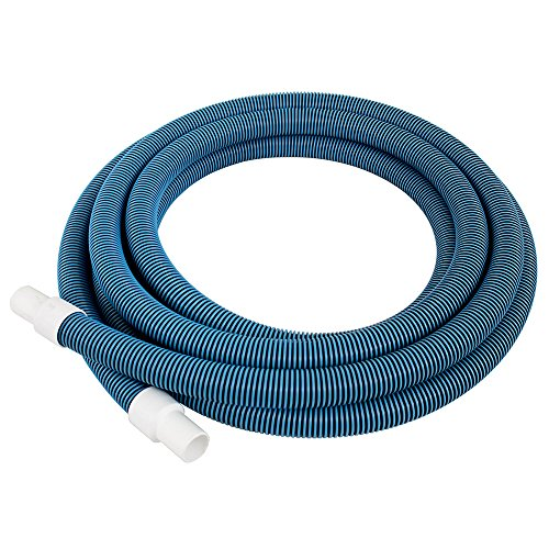 Pool Mate 720-GEN Premium-Deluxe Blue/Black Spiral Wound Swimming Pool Vacuum Hose, 1-1/2' X 25'