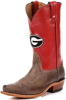 Nocona LDUG22 Womens Georgia Red/Tan Vintage Cowhide College Boots