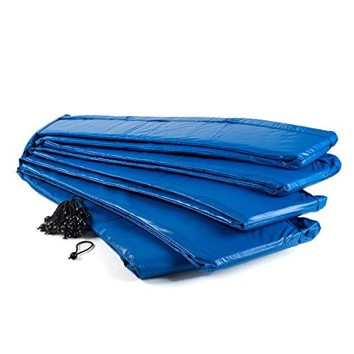 Ampel 24 trampoline randafdekking, passend voor trampoline Ø 396 cm, scheurbestendige veerafdekking en blauwe UV-bestendige beschermrand
