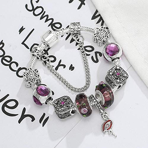 XZHYMJ Lila Fliegender Kranich Versilbert Alu 21Cm Geschenk Für Paare Beste Wahl Für Armbänder
